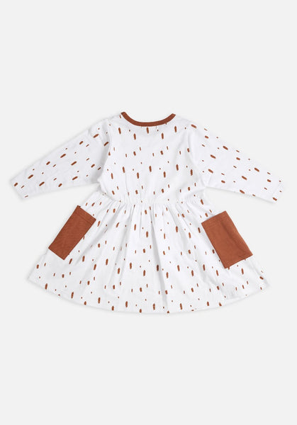 Miann & Co Kids dress - Brush stroke