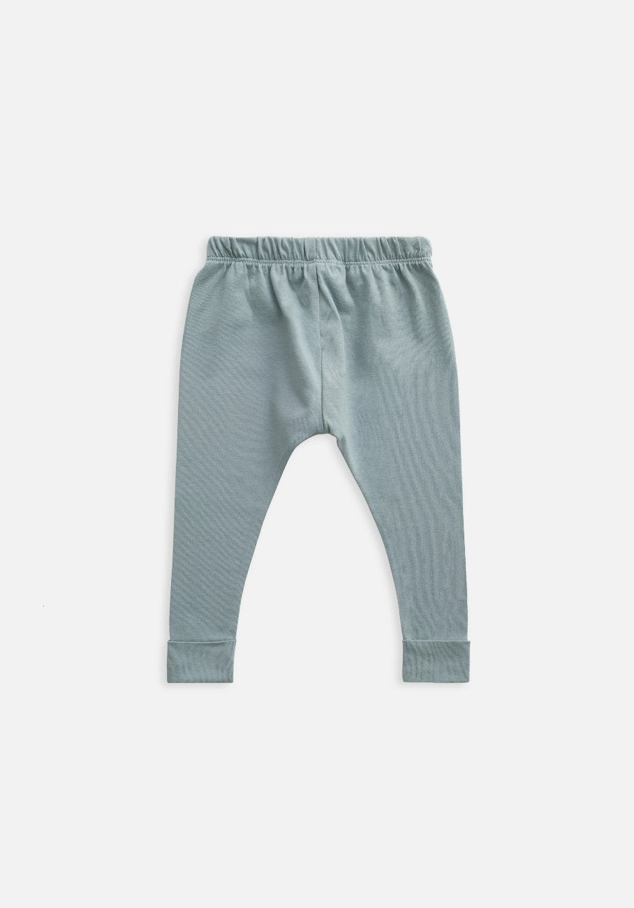 kids organic slate blue legging