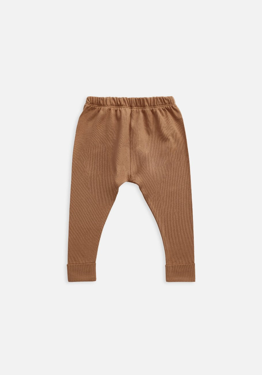 Miann & Co Kids - Organic Kids Cotton Basics - Legging - Café Au Lait