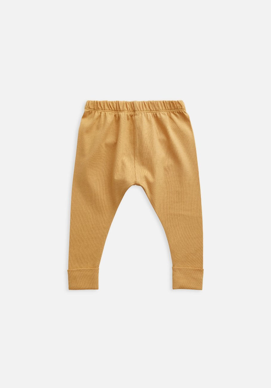 baby organic orange clay legging