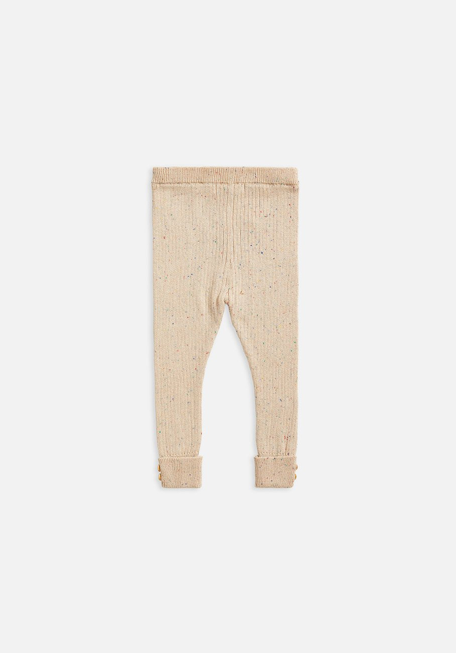 Kids Texture rib legging fawn speckle