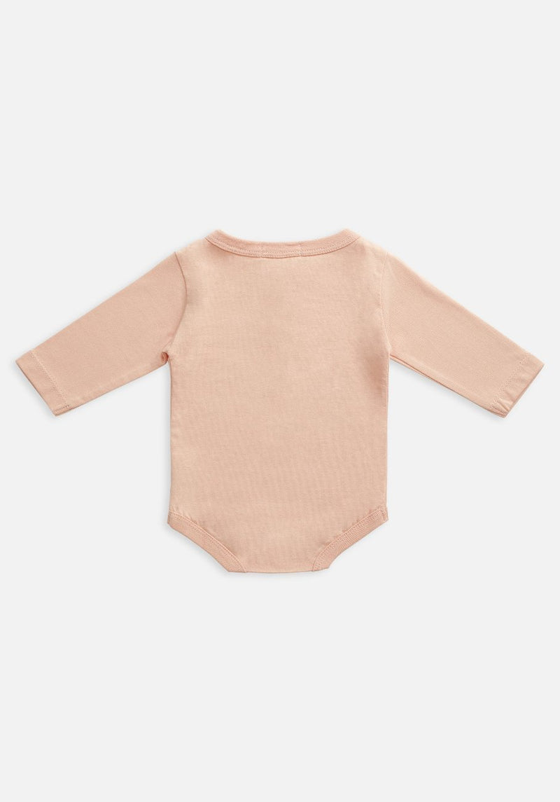 Miann & Co Baby - Organic Baby Cotton Basics - Long Sleeve Bodysuit - Evening Sand