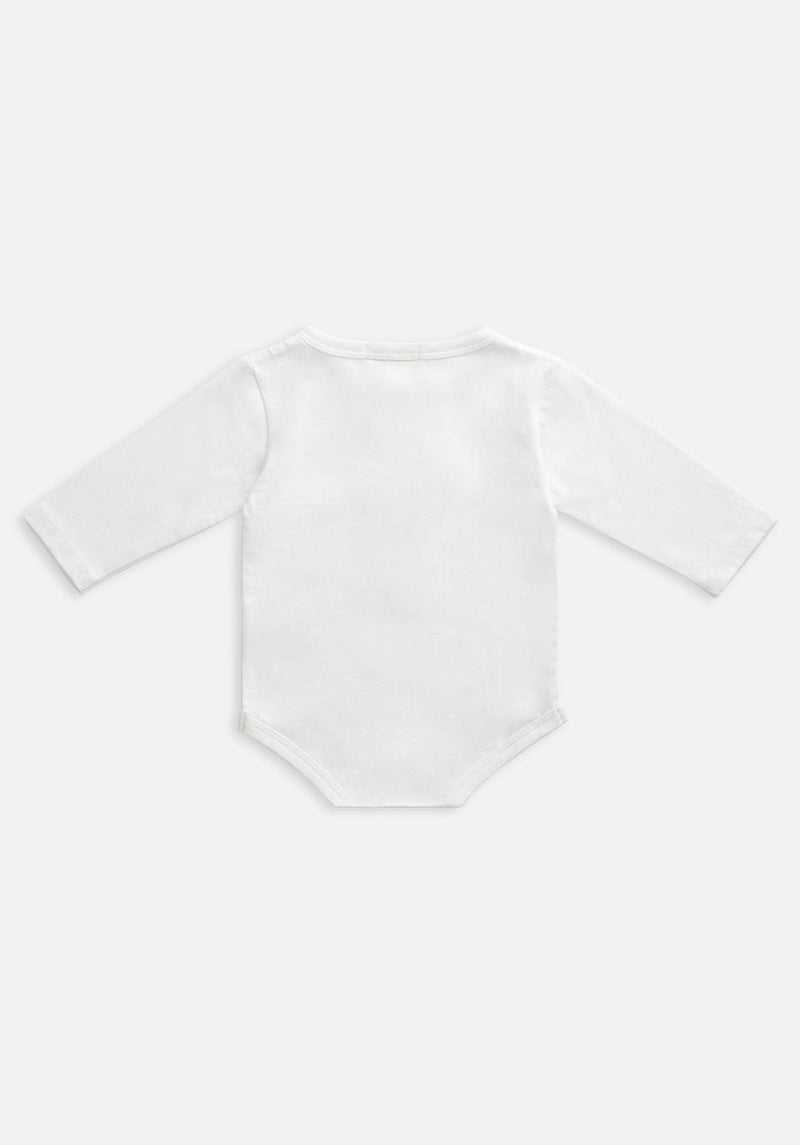 Miann & Co Baby - Organic Baby Cotton Basics - Long Sleeve Bodysuit - Optic White