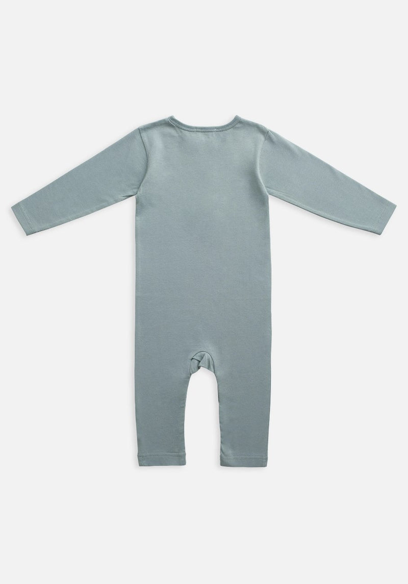 Miann & Co Baby - Organic Baby Cotton Basics - Full Sleeve Jumpsuit - Slate