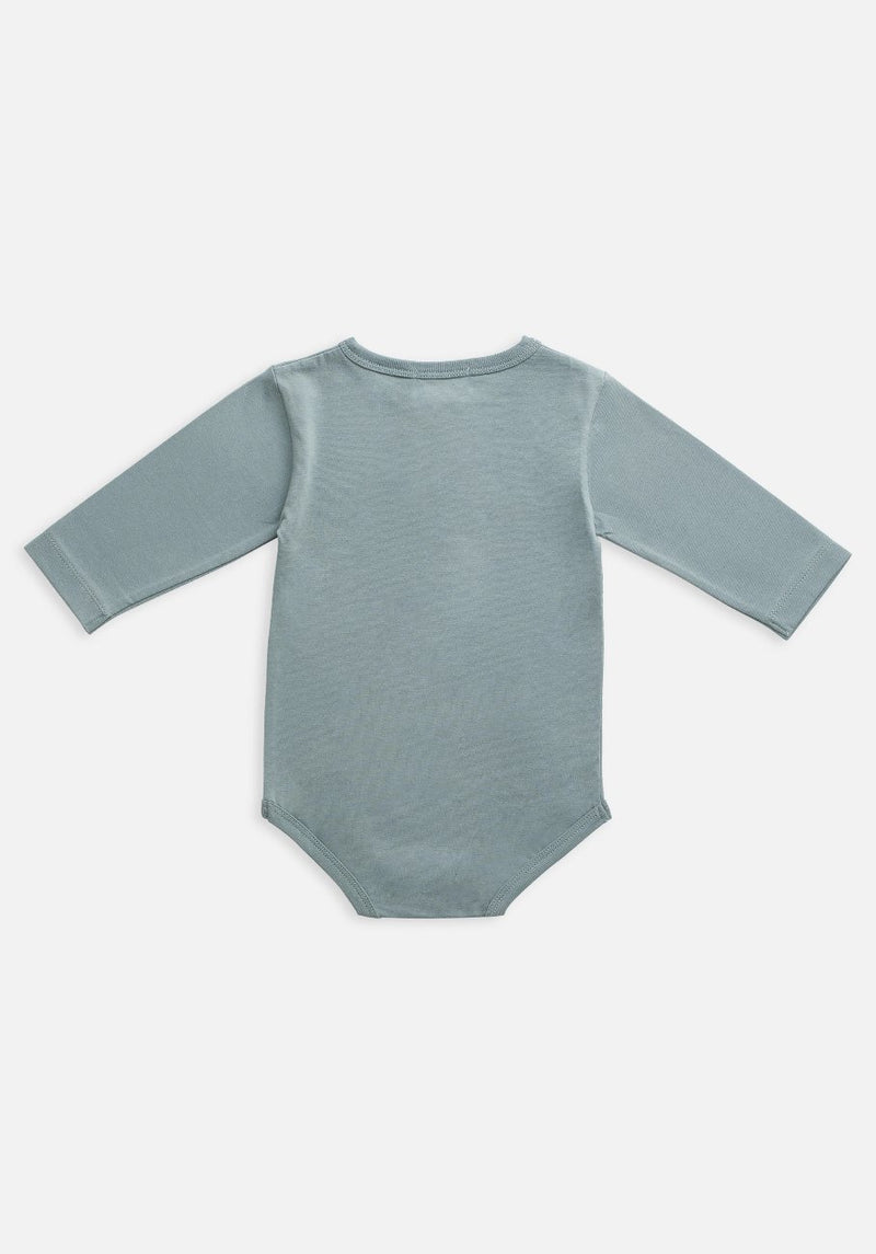 Miann & Co Baby - Organic Baby Cotton Basics - Long Sleeve Bodysuit - Slate