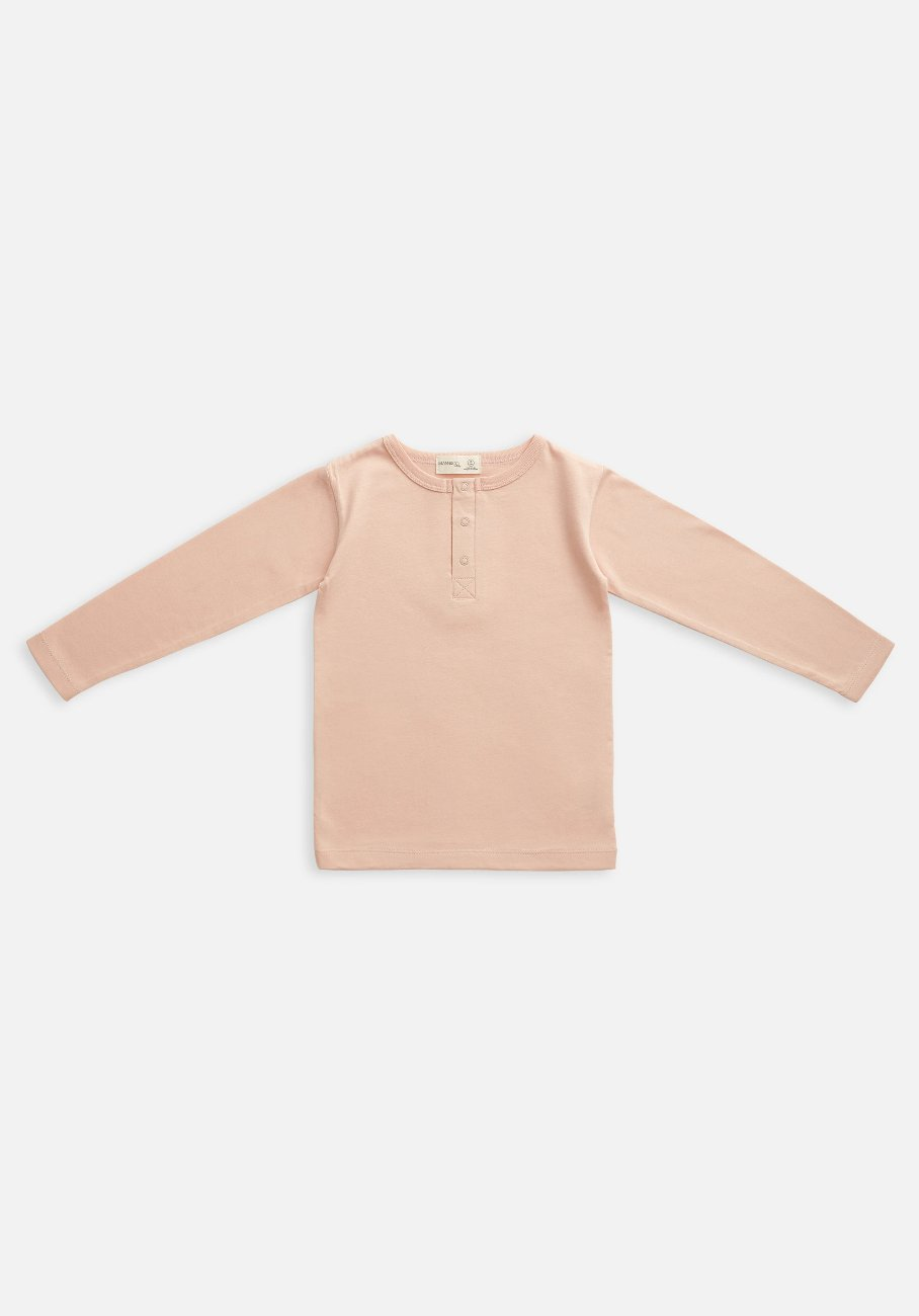 Miann & Co Kids - Organic Kids Cotton Basics - Long Sleeve T-Shirt - Evening Sand