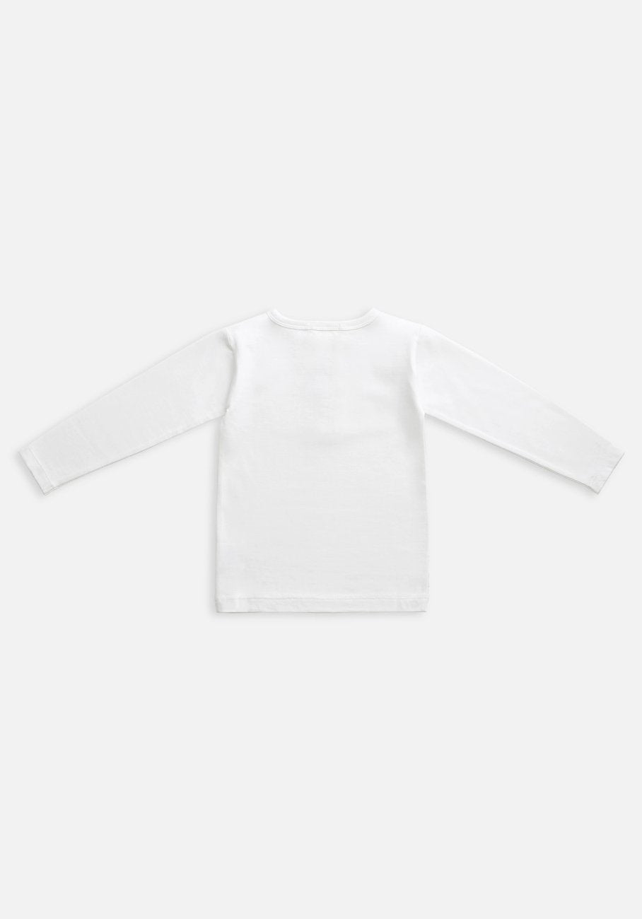 Miann & Co Kids - Organic Kids Cotton Basics - Long Sleeve T-Shirt - Optic White