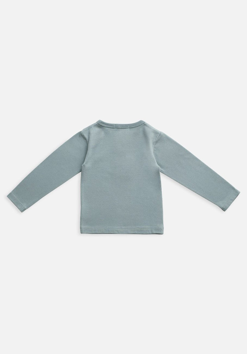 Miann & Co Kids - Organic Kids Cotton Basics - Long Sleeve T-Shirt - Slate