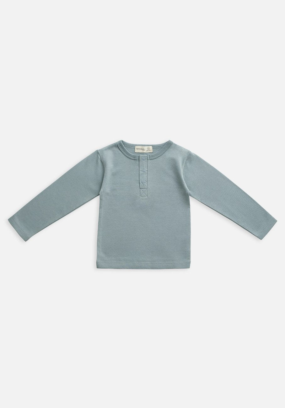 baby organic slate blue long sleeve t-shirt