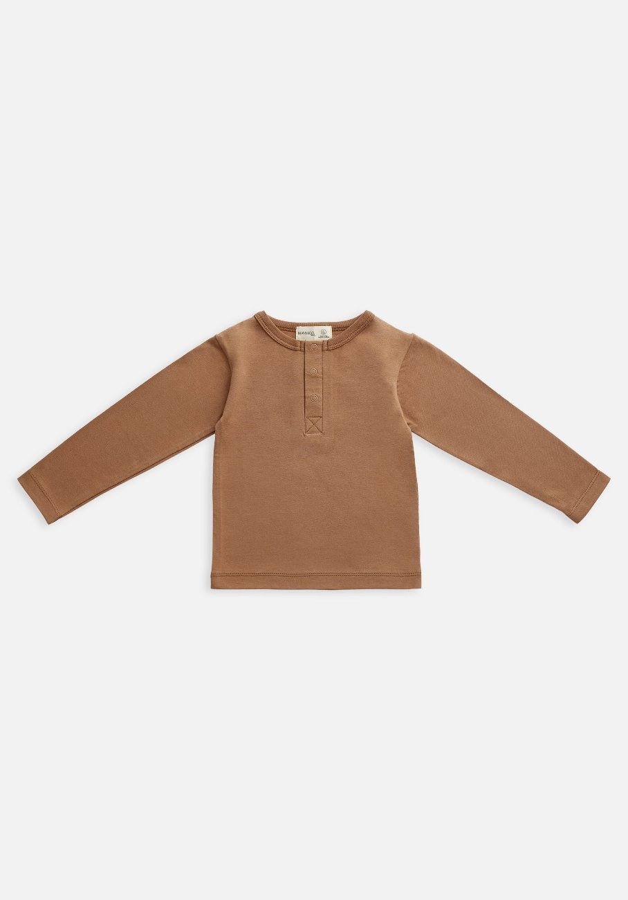 Miann & Co Baby - Organic Baby Cotton Basics - Long Sleeve T-Shirt - Café Au Lait