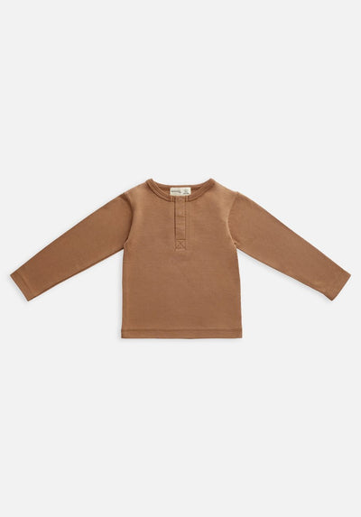 Miann & Co Kids - Organic Kids Cotton Basics - Long Sleeve T-Shirt - Café Au Lait