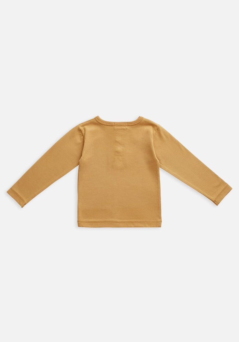 baby organic clay orange long sleeve t-shirt