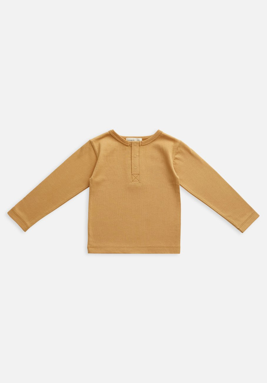 Miann & Co Baby - Organic Baby Cotton Basics - Long Sleeve T-Shirt - Clay