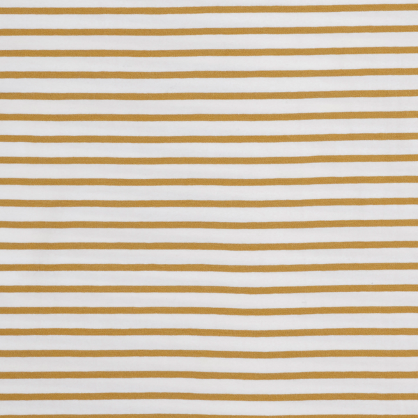 Mustard Stripe Fitted Cot Sheet