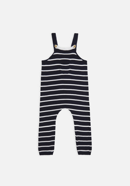 Miann & Co Baby – Knit Overalls – Navy Stripe - MIANN & CO