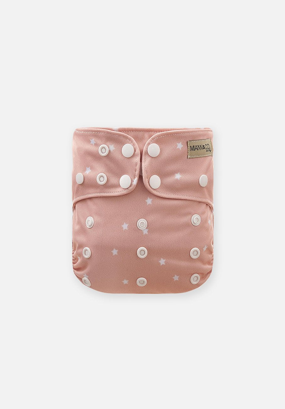 Modern Cloth Nappy - Rosewater Star