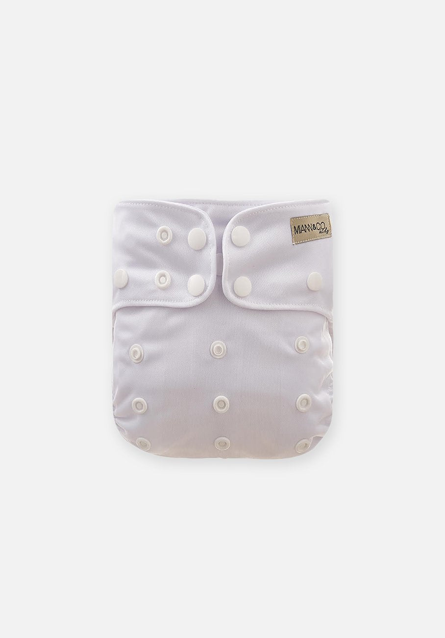 Miann & Co - Reusable Cloth Nappy - Optic White