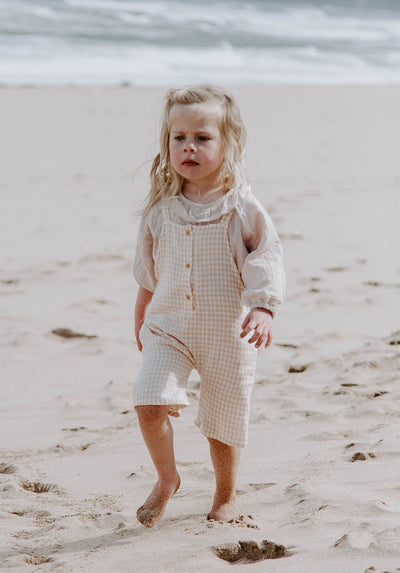 Miann & Co Kids - Cropped Overall - Antique Gingham