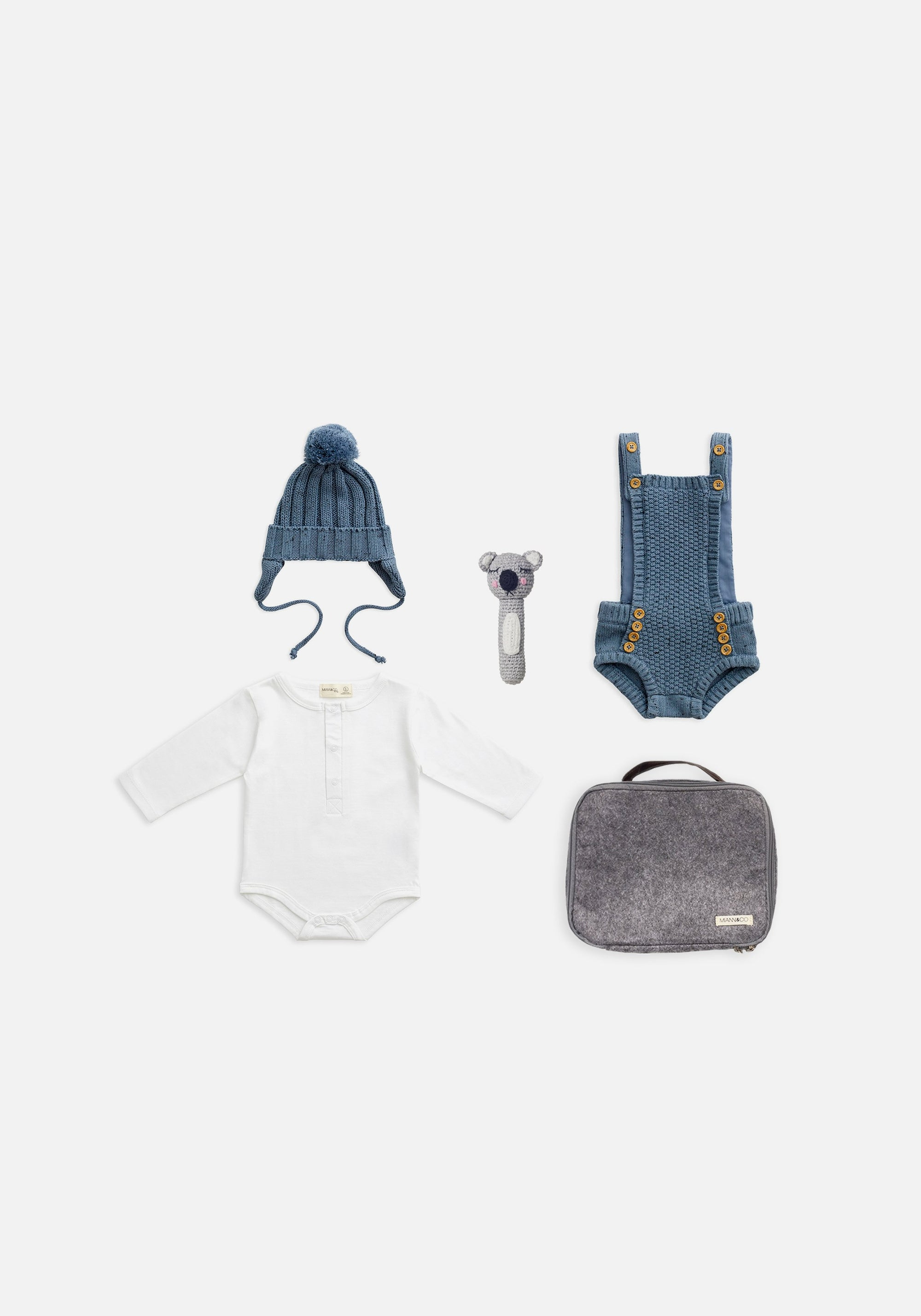 baby blue knits gift pack