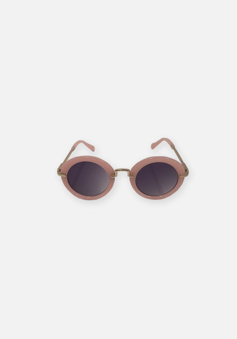 Miann & Co Kids - Retro Round Sunglasses - Dusty Pink