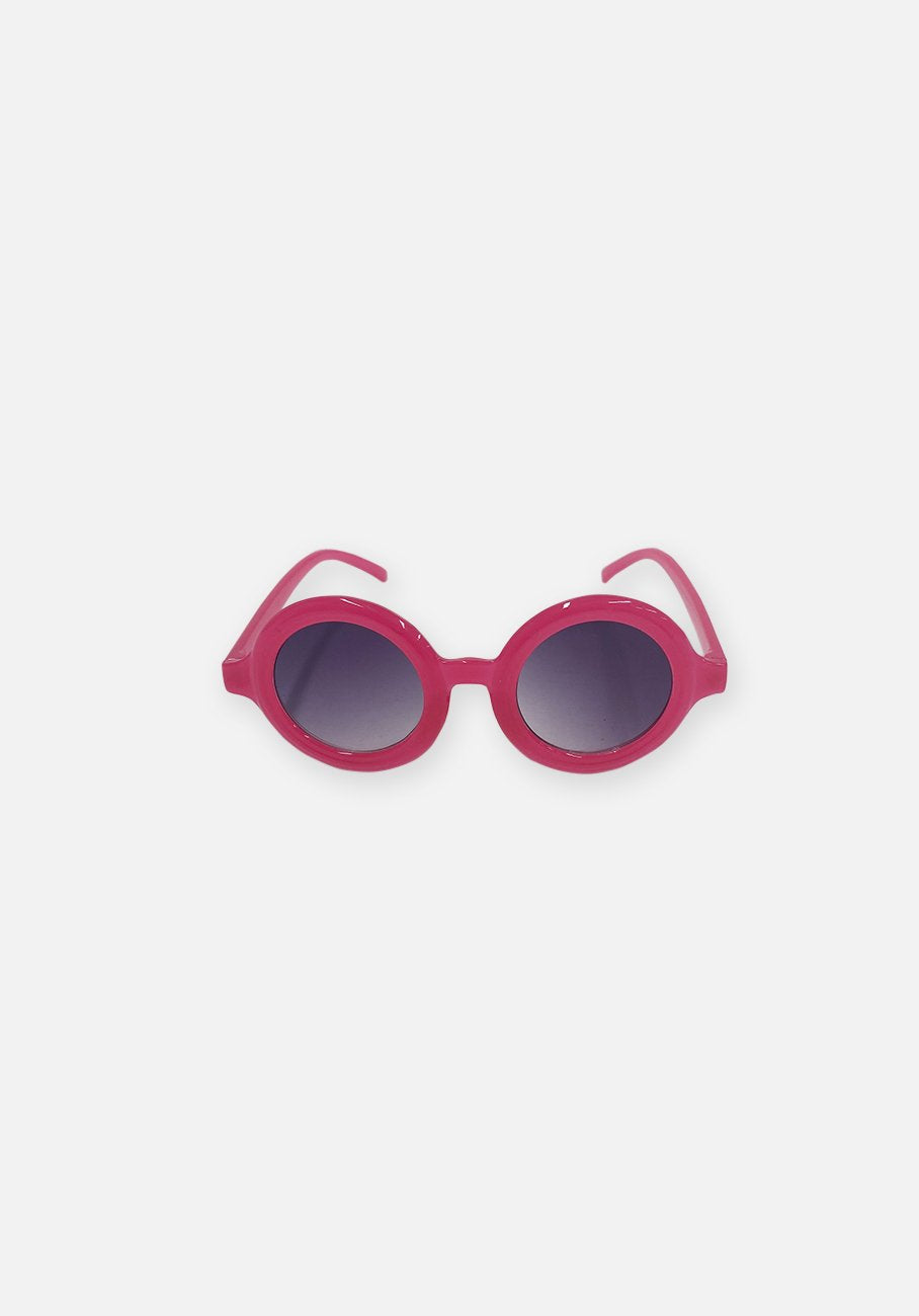 Miann & Co Kids - Round Sunglasses - Neon Pink