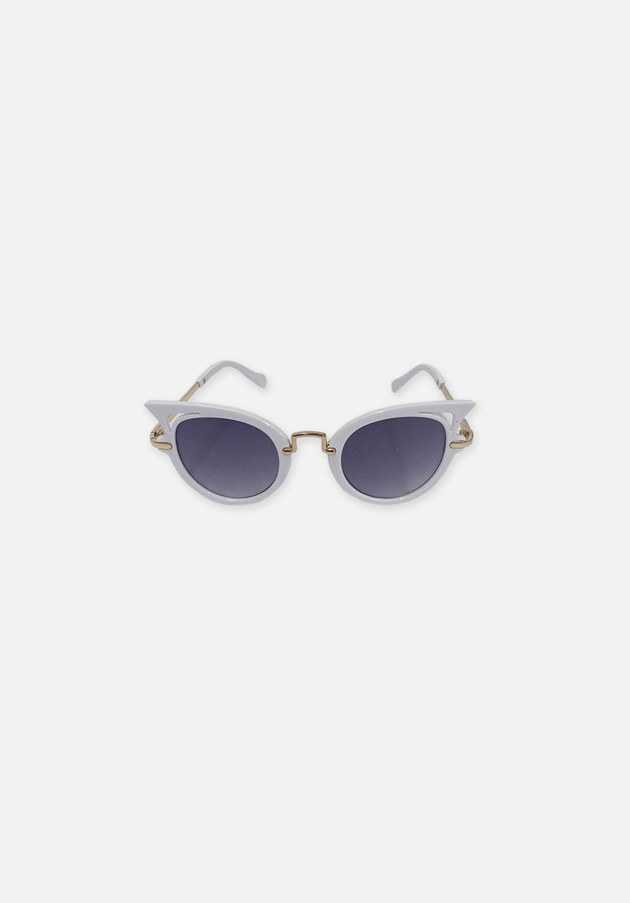 Miann & Co Kids - Retro Point Sunglasses - White Gold