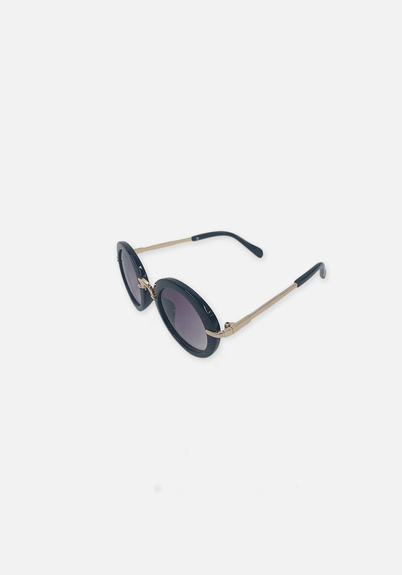 Miann & Co Kids - Retro Round Sunglasses - Jet Black