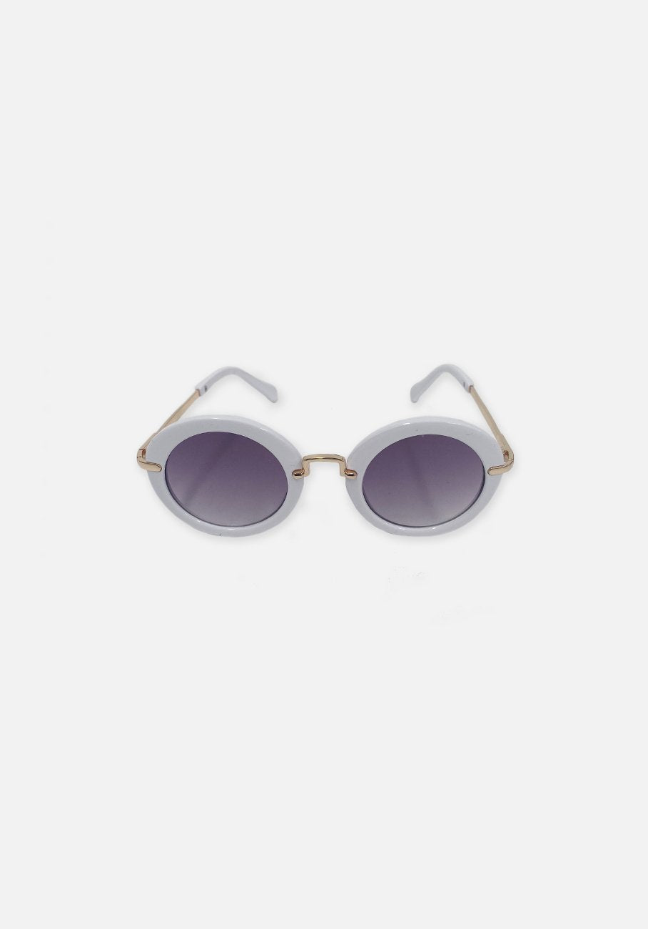 Miann & Co Kids - Retro Round Sunglasses - Snow White