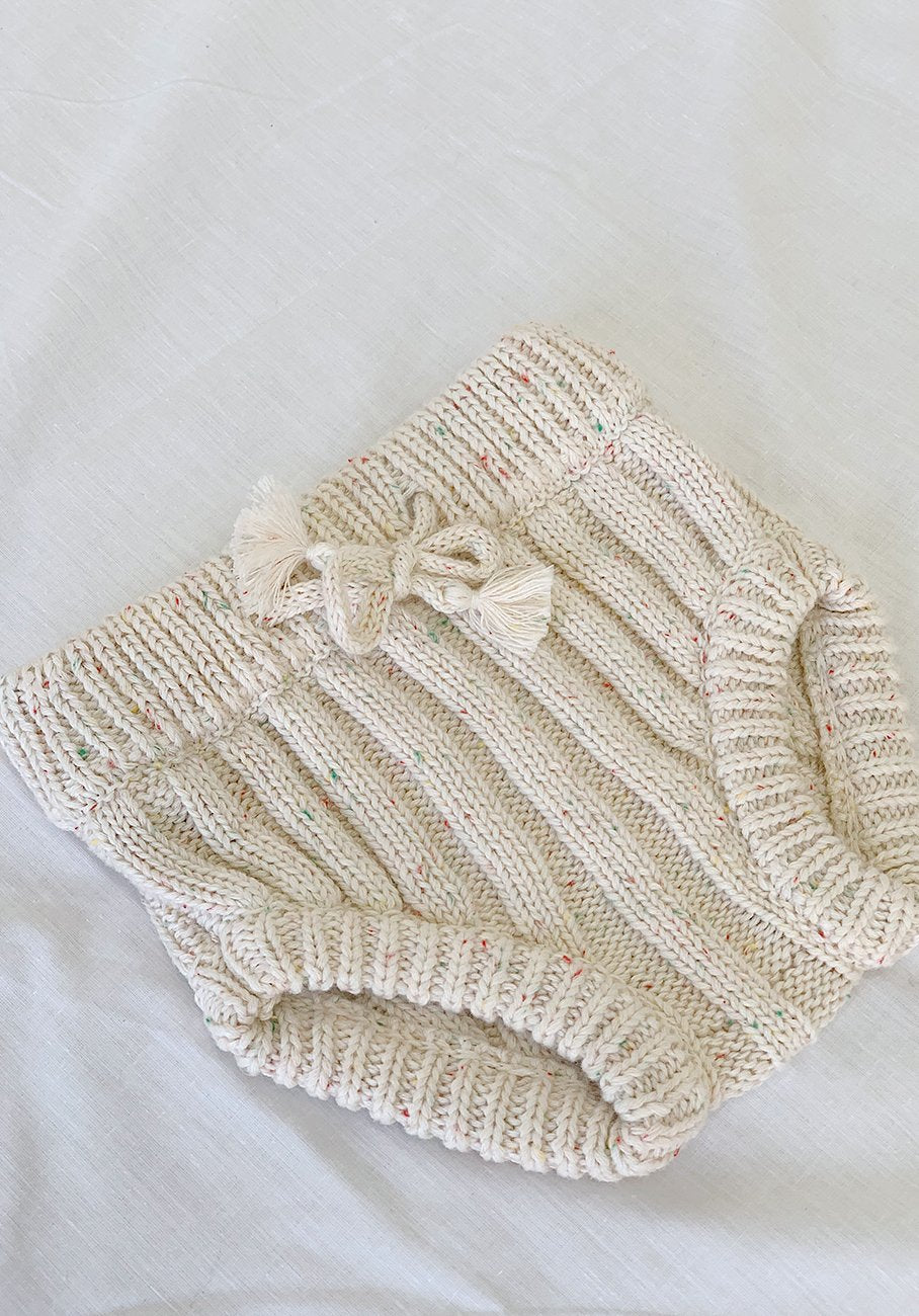 Miann & Co Baby - Knit Bloomer - Biscotti Speckle