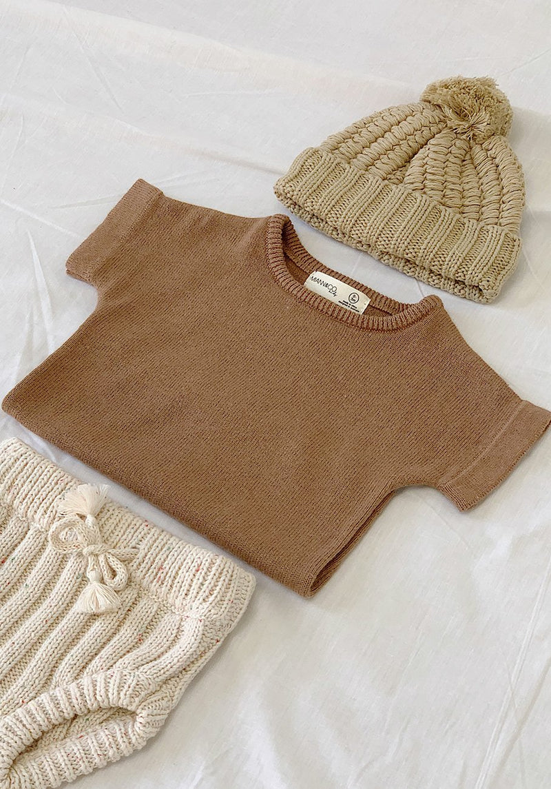 Baby brown knit t-shirt