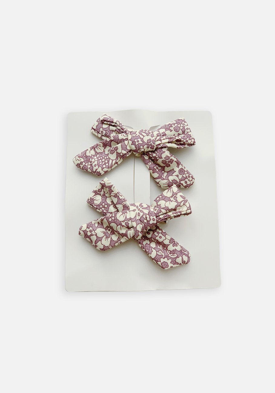 Large Bow Clip - Lilac Flower