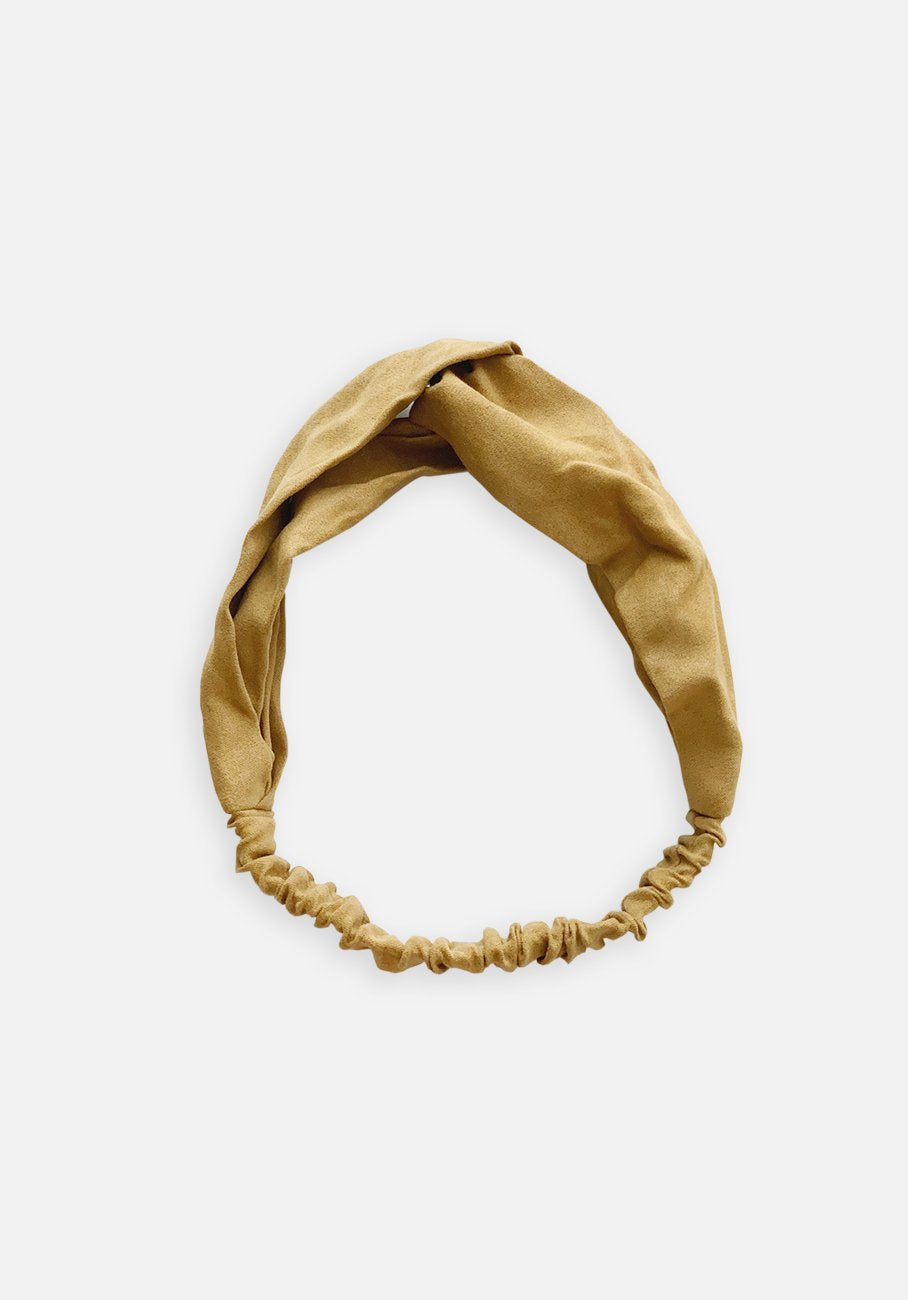 Faux Suede Headband - Buff