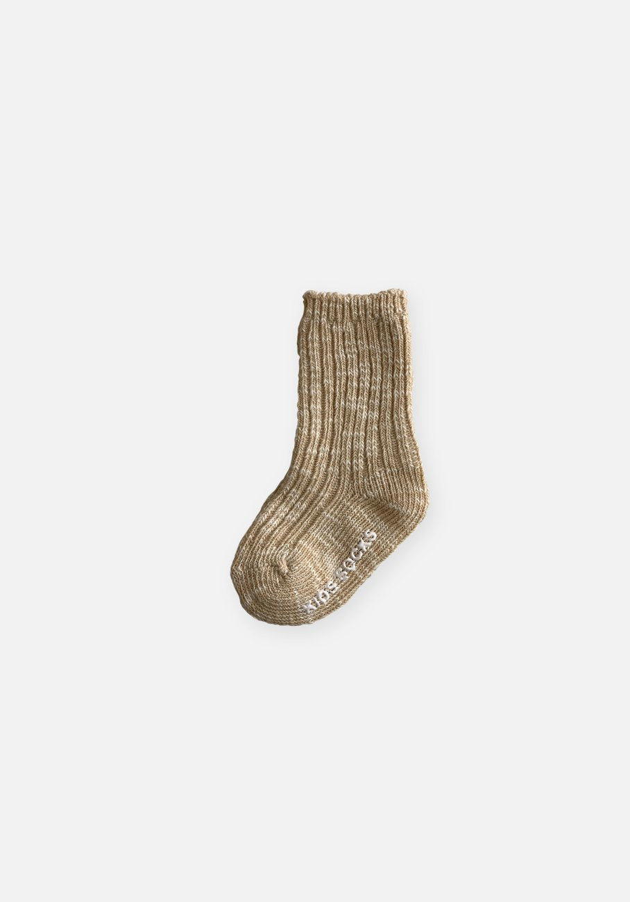 Beige Marle Socks - Kids