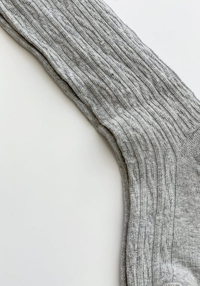 Grey Ribbed Socks - 1-2 Years