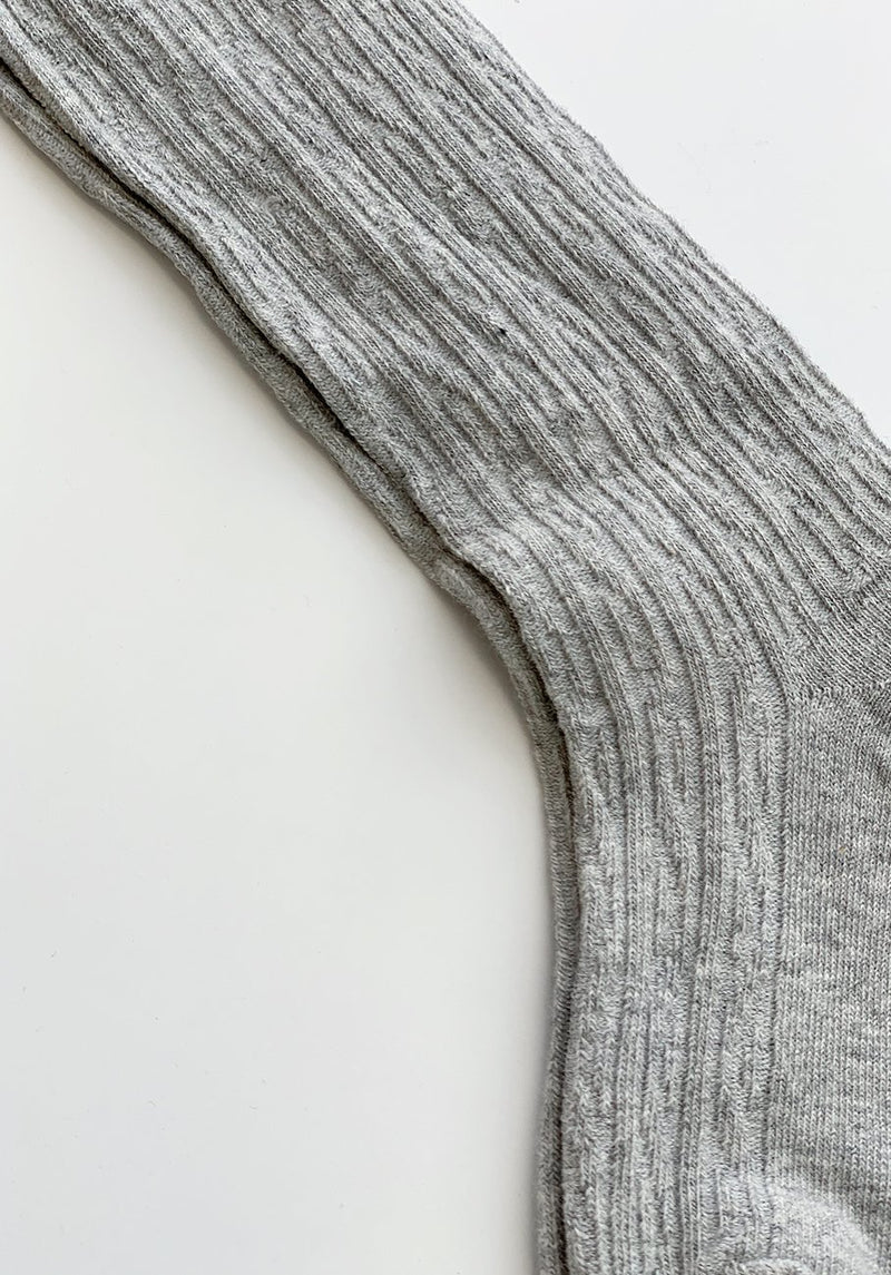 Grey Ribbed Socks - 3-5 Years