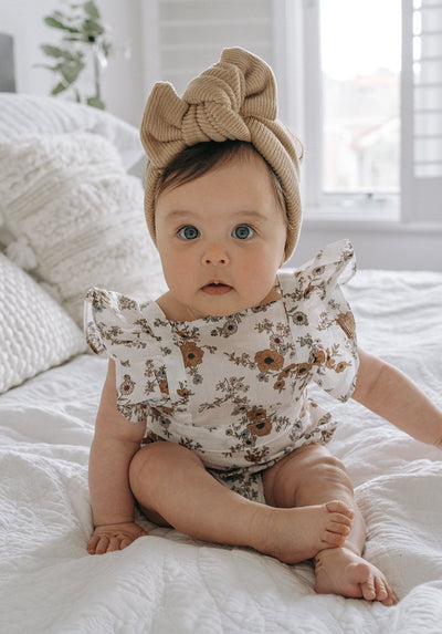 Baby floral ruffle bodysuit