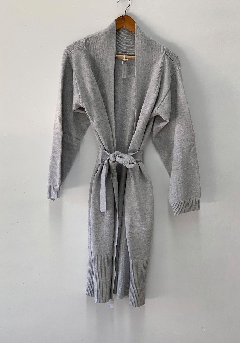 Womens grey dressing gown
