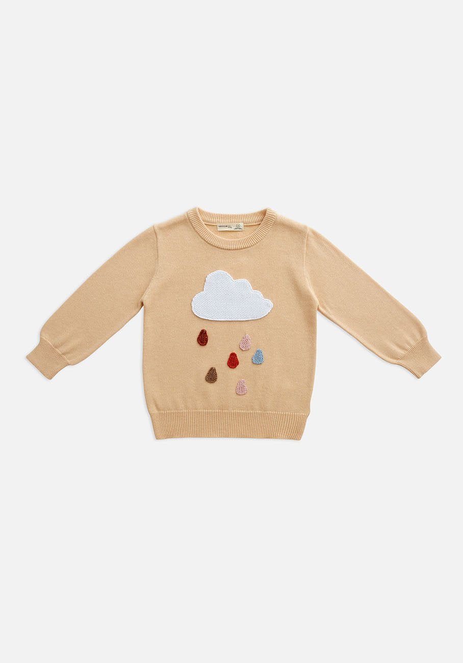 baby rain cloud knit jumper