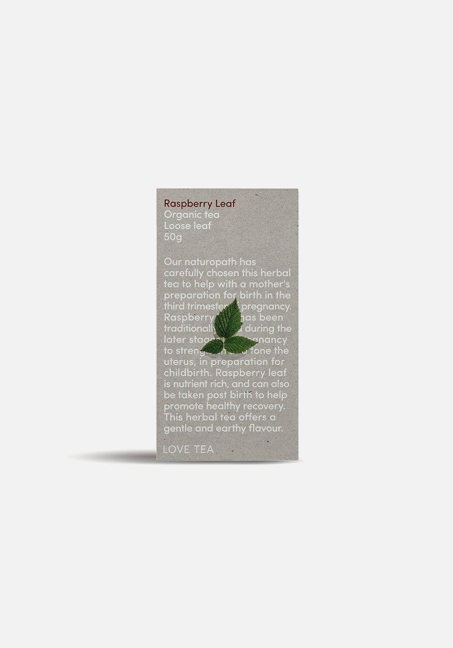 Love Tea - Raspberry Leaf Loose Leaf Tea - 50g