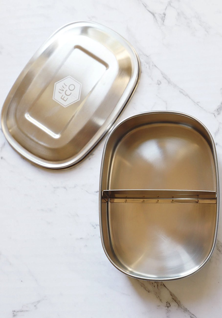 Ever Eco - Stainless Steel Bento Snack Box - 2 Compartments