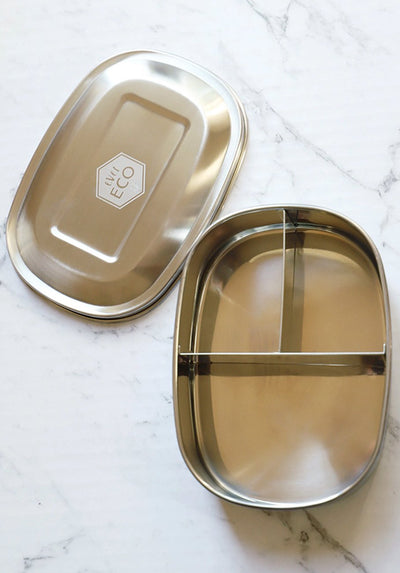 Ever Eco - Stainless Steel Bento Snack Box - 3 Compartments