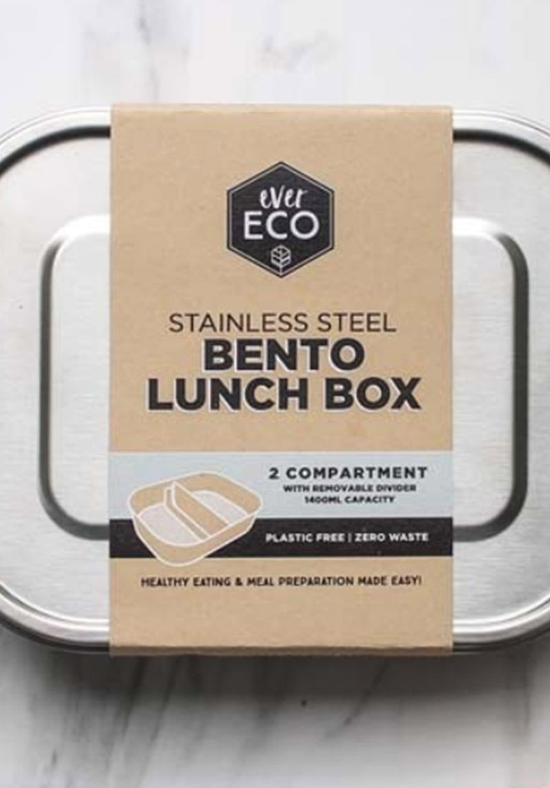 Ever Eco - Stainless Steel Bento Lunch Box - 2 Compartments