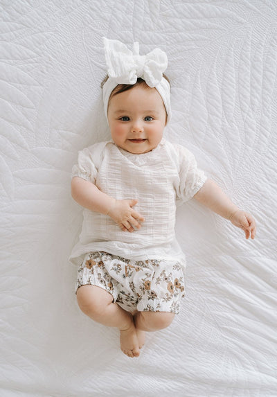 Baby floral bloomer shorts