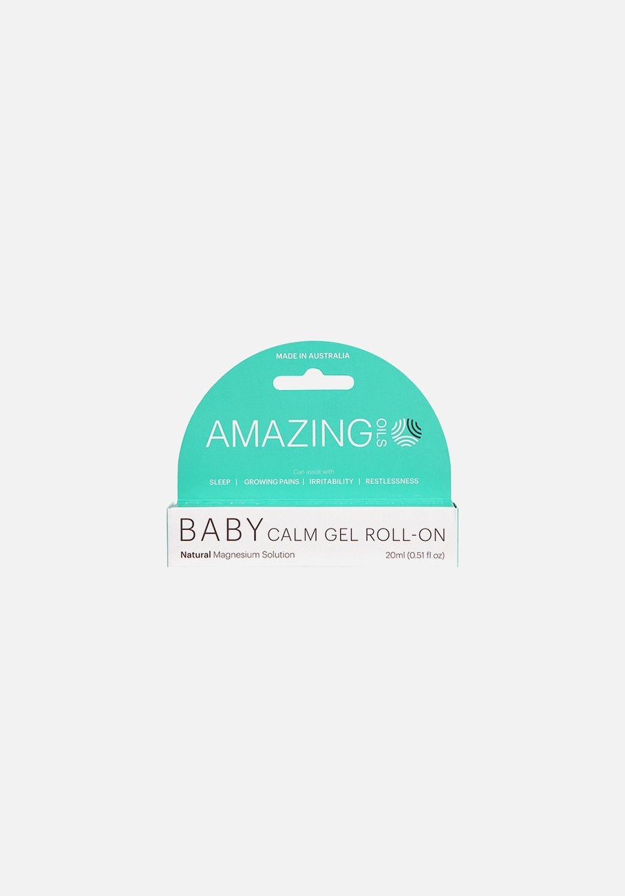 Amazing Oils - Baby Calm Gel Roll-On - Natural Magnesium Solution - 20ml