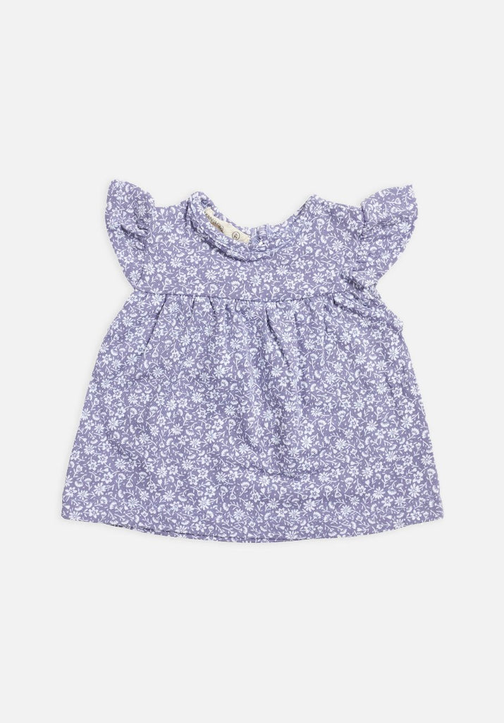 Miann & Co Baby - Lavender Grey Floral Frill Top - MIANN & CO