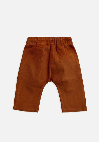 baby orange rust ginger cord pants
