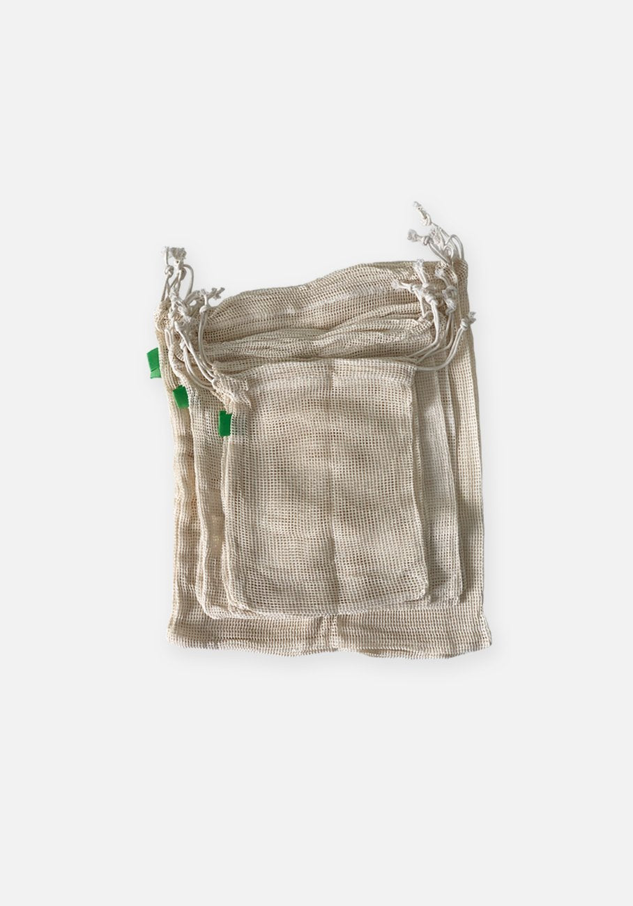 Organic Cotton Produce Bags - Set of 9