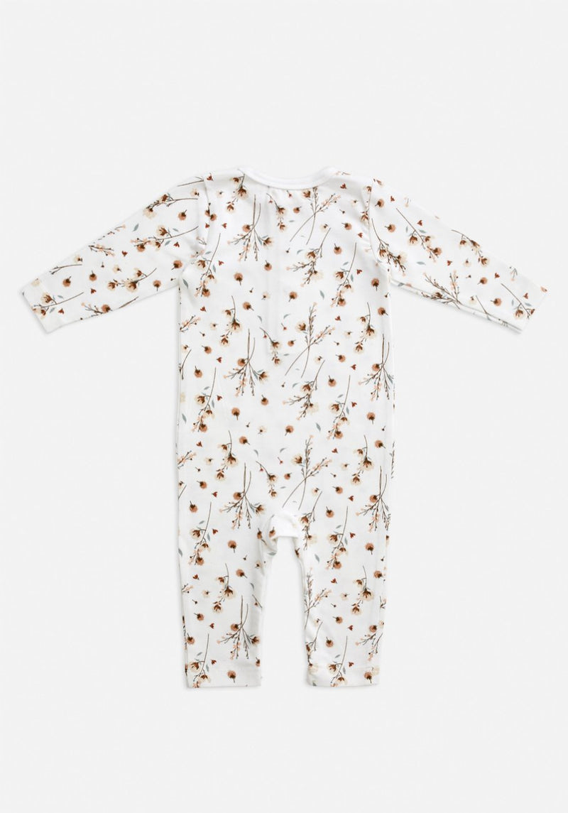 Miann & Co Baby - Long Sleeve Bodysuit - Snow Blossom