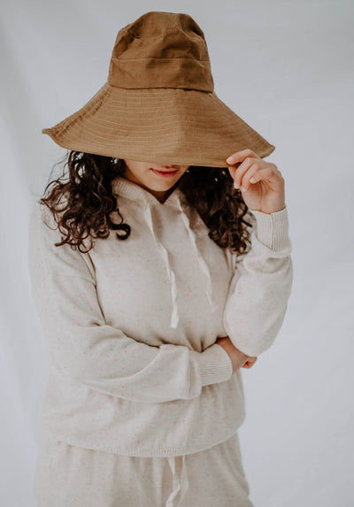 Miann & Co Womens - Wide Brim Sun Hat - Croissant