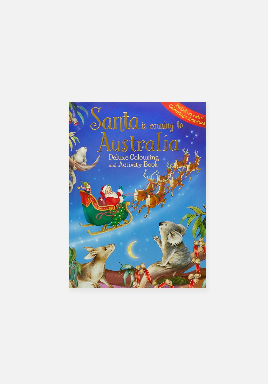 'Santa Is Coming To Australia Deluxe Colouring Book' by Lake Press